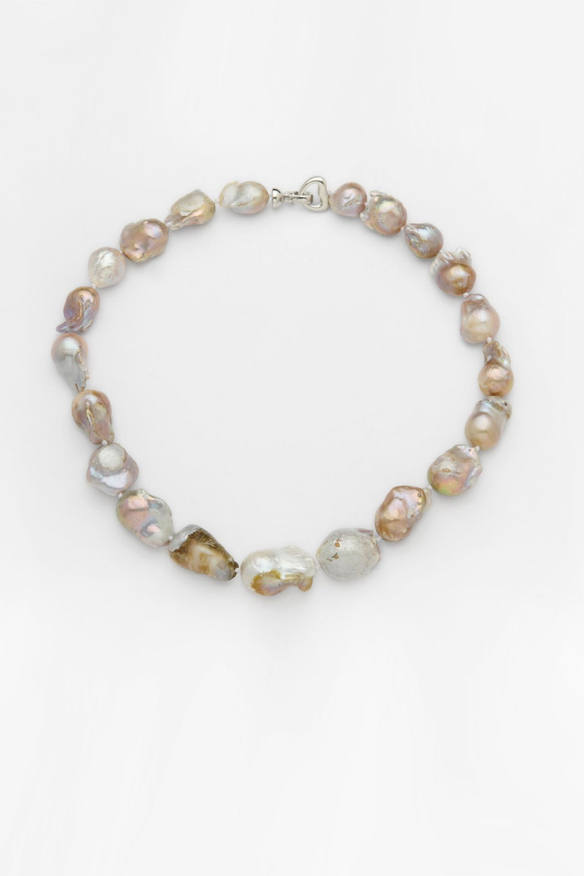 Keshi Strand Pearl Necklace - Silver