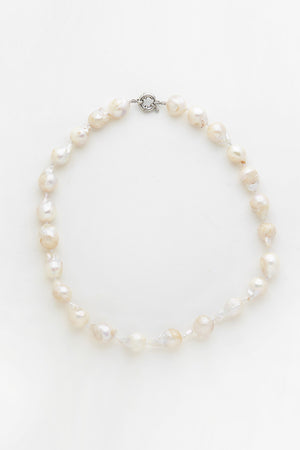 Keshi Strand Pearl Necklace - White