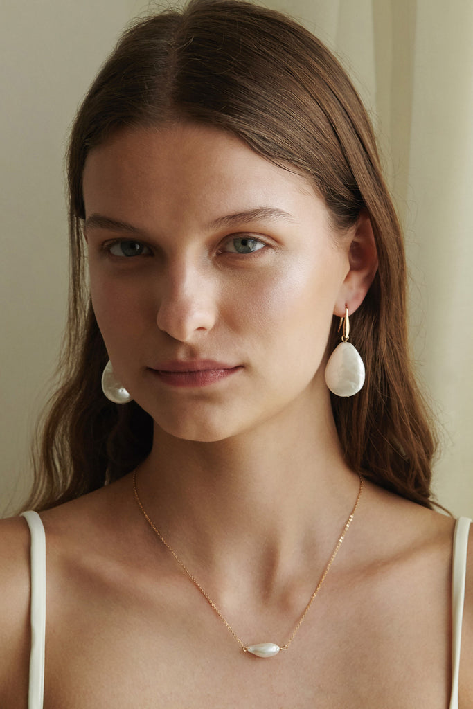 Oversized Keshi Pearl Earrings