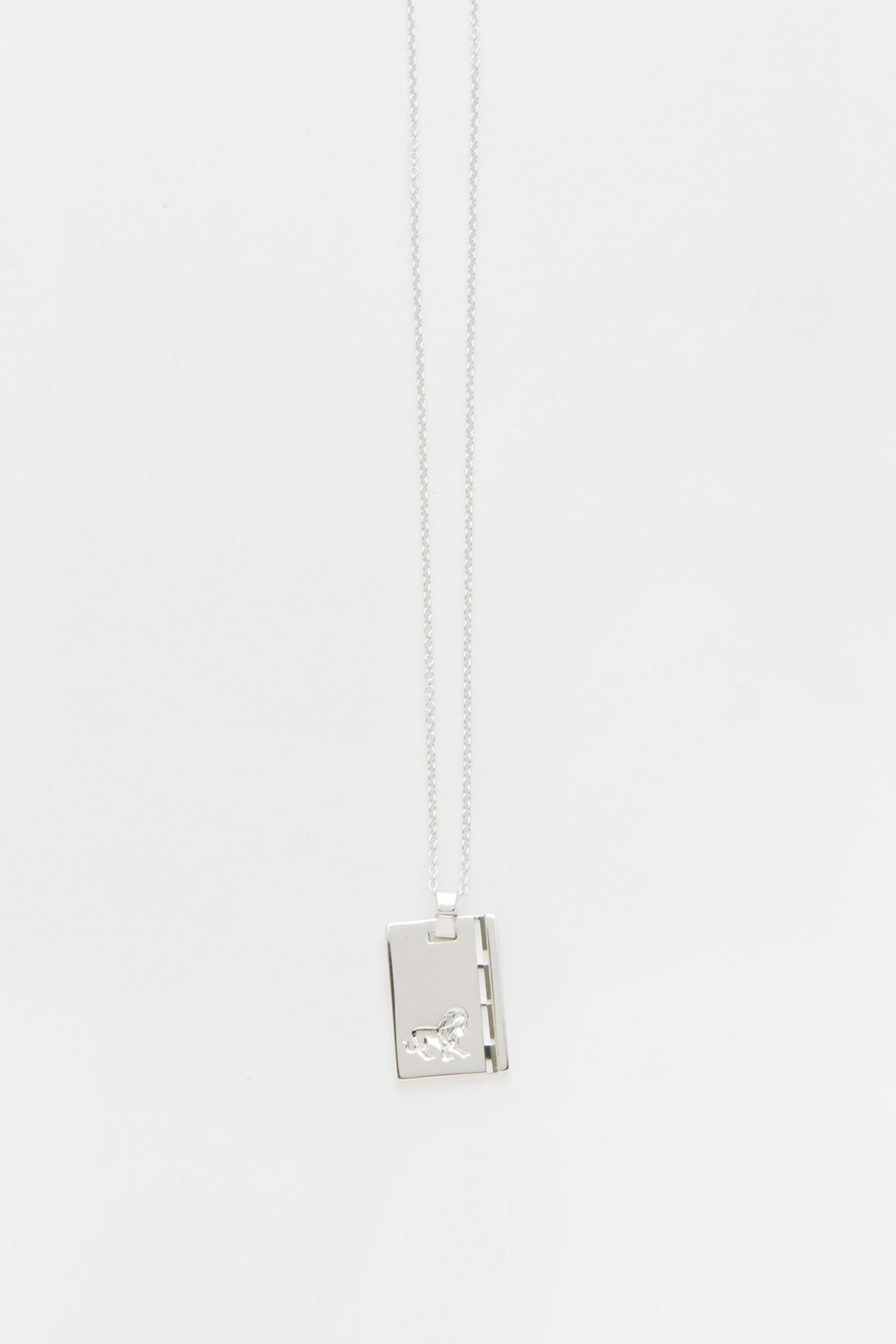 Silver Star Sign Necklace Leo