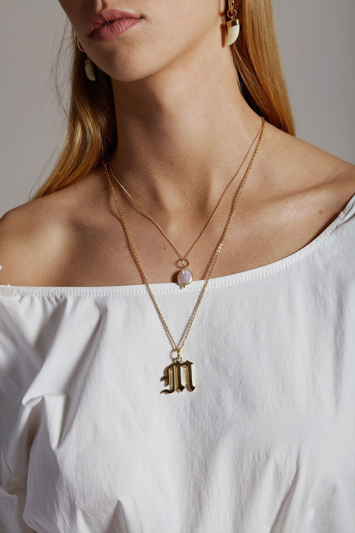 Gold Letter A Necklace