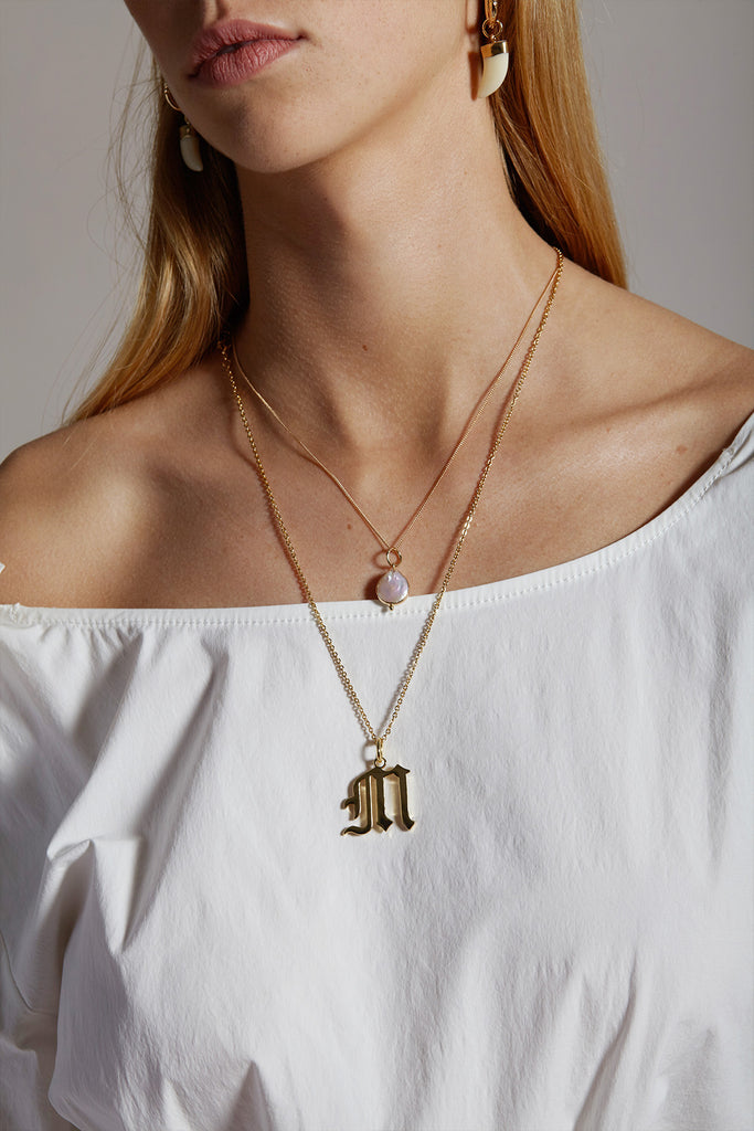 Gold Letter B Necklace