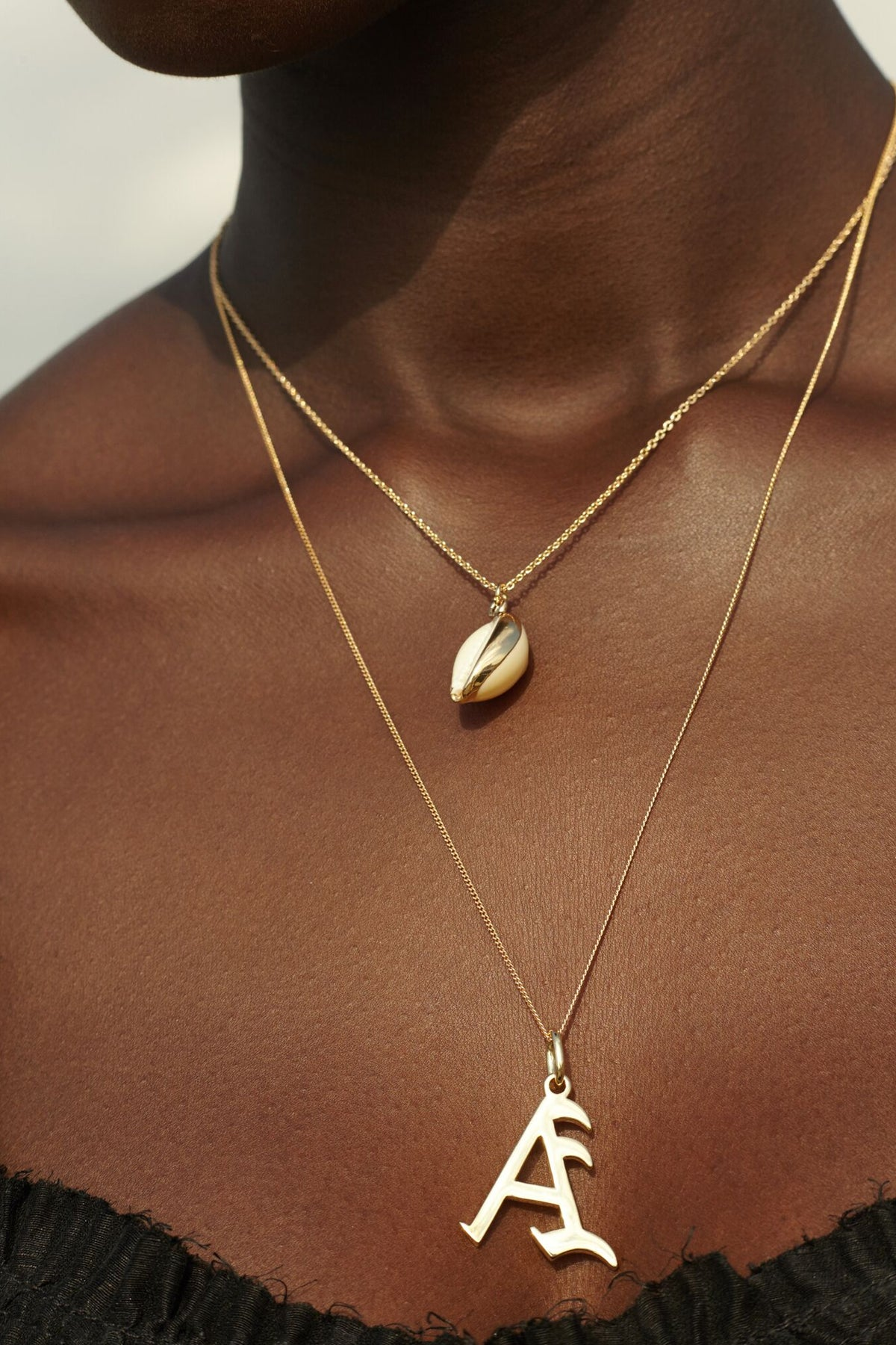 Gold Letter X Necklace