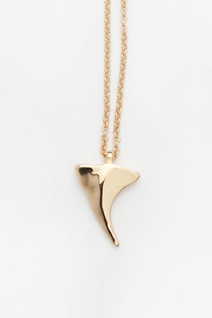 Gold Shark's Tooth Necklace