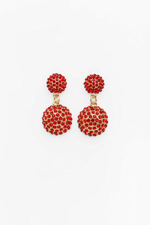 Obfuscation Earrings in Red
