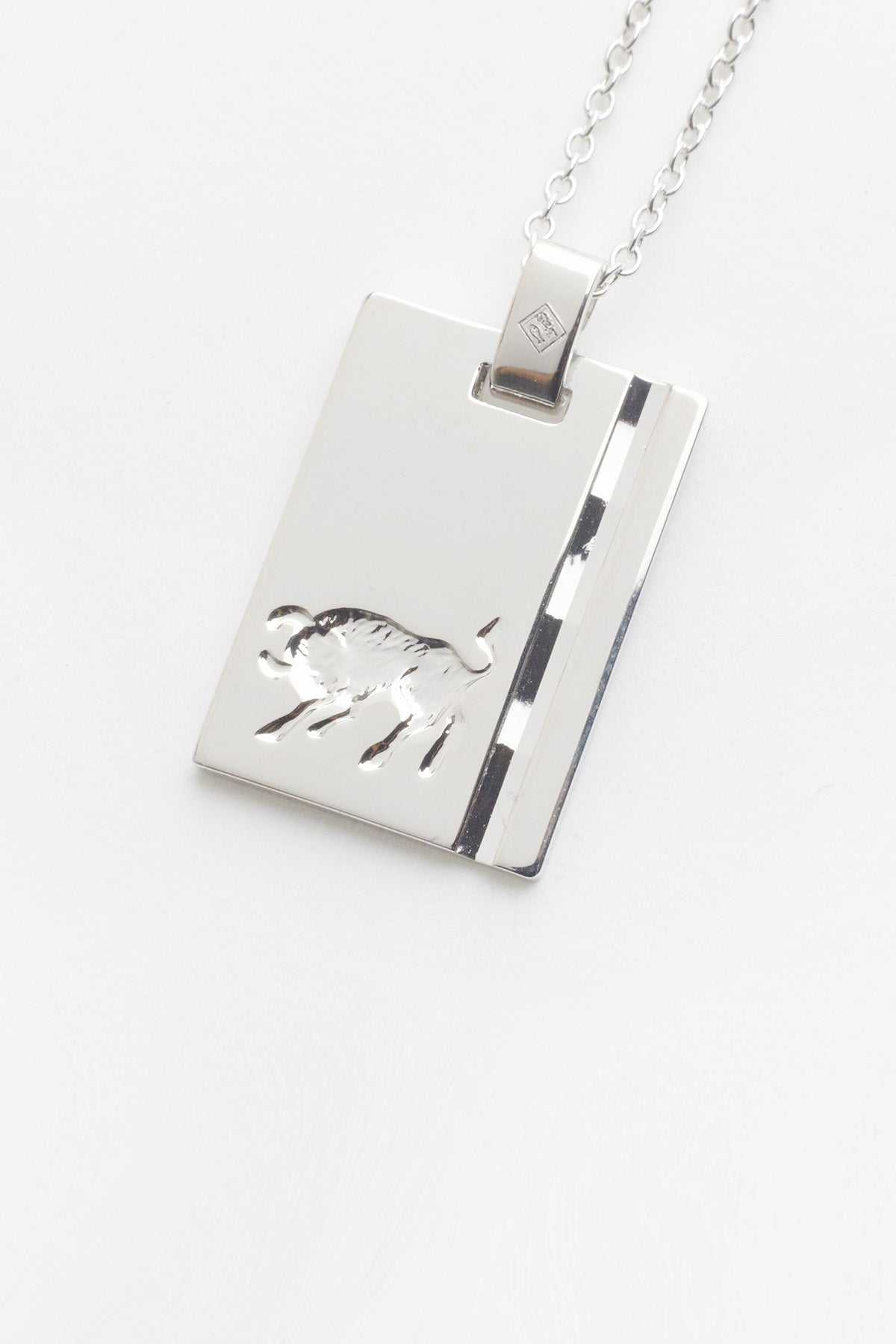 Silver Star Sign Necklace Taurus