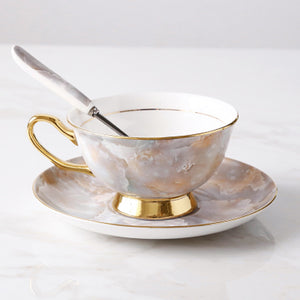 Granite Pink Teacup & Saucer Set