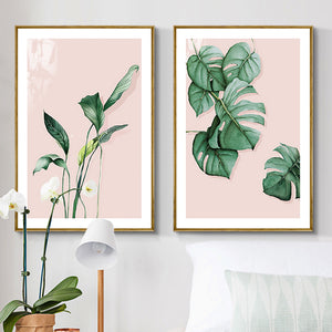 Sweet Leaves Framed Canvas Art