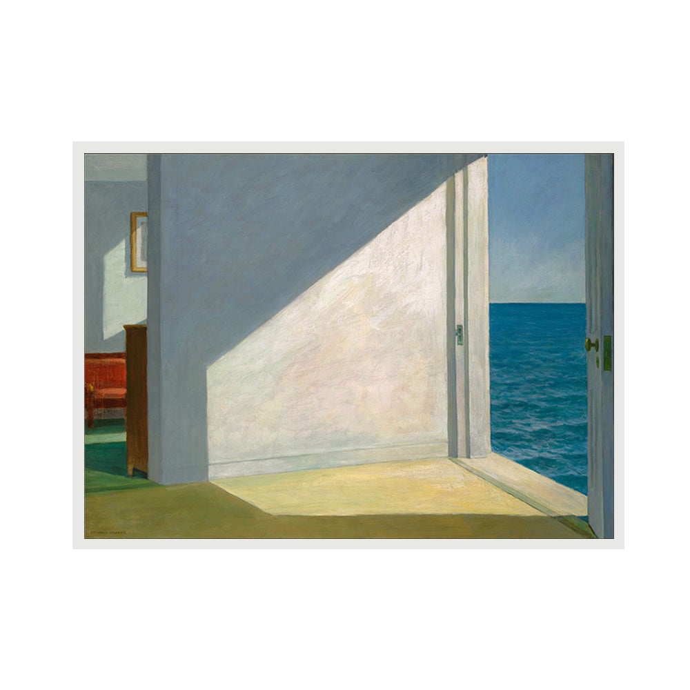 Sea House Framed Canvas Art