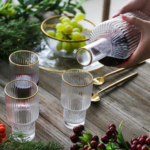Maison Gold Rim Drinking Set