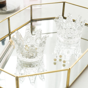 Petite Crown Glass Tray