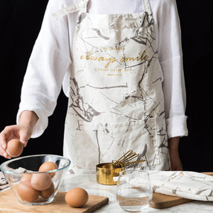 Bold Marble Cotton Apron