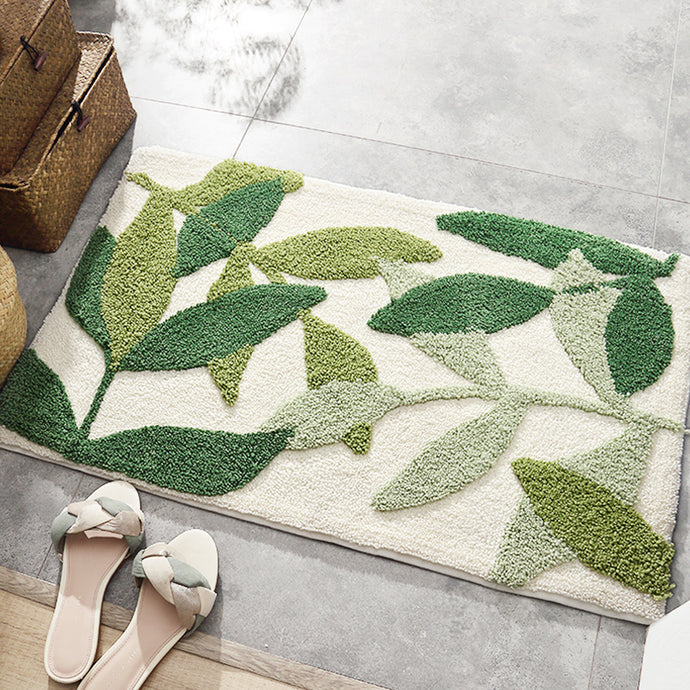 Tufted Foliage Floor Mat