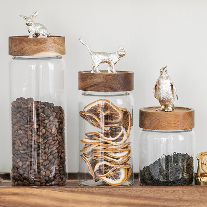 Animal Roof Nature Storage Jar