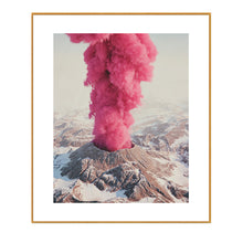 Pink Boom Framed Canvas Art