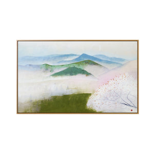 Mount Sakura Framed Canvas Art