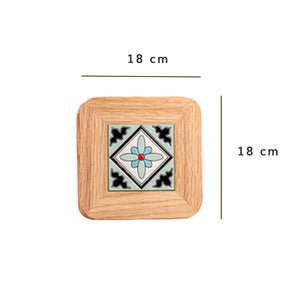 Nyonya Framed Wooden Coaster