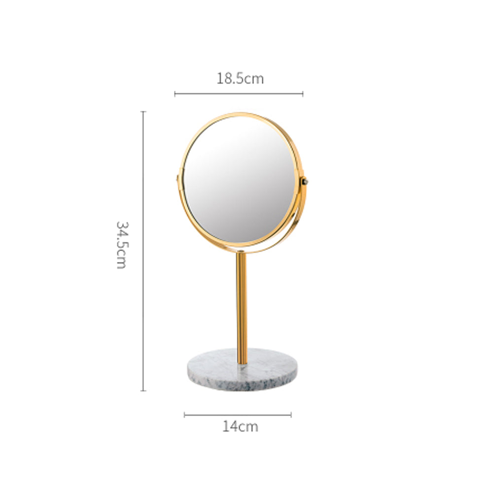 Luxe Marble Base Mirror