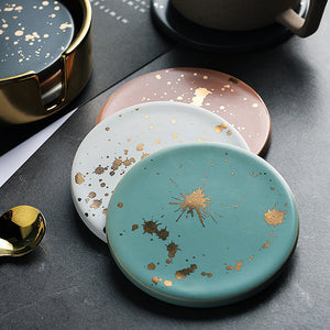 Golden Sparks Coaster Set
