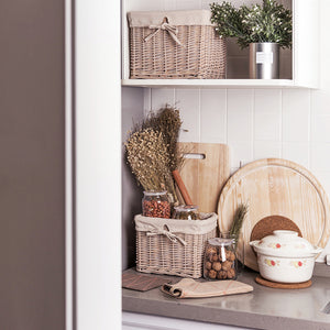 Ribbly Storage Rattan Basket