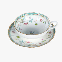 Jade Flowers Teacup & Saucer Set
