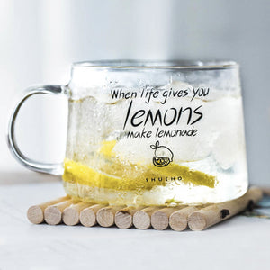 Lemon Quote Drinking Glass