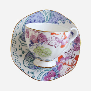 Oriental Bloom Teacup & Saucer Set