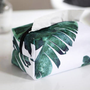 Minimalist Tropical Tissue Cover