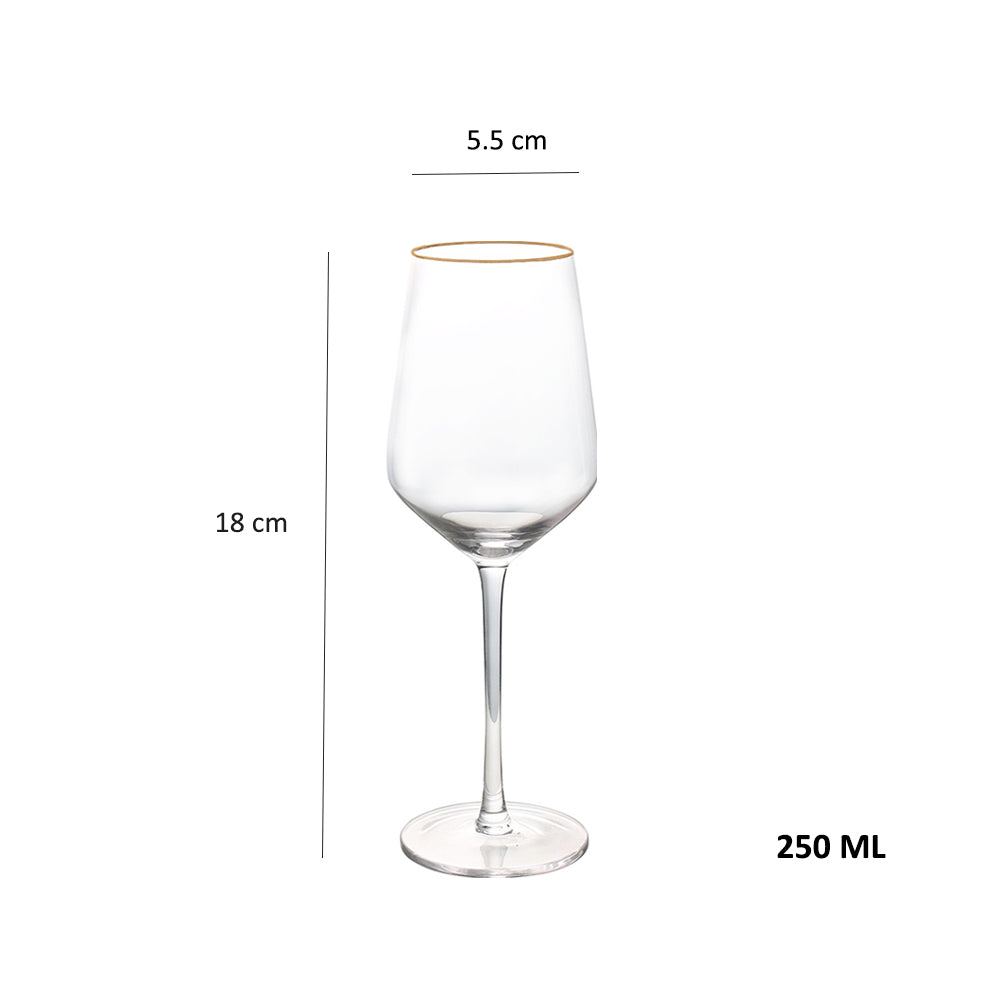Gold Rim Stem Glass