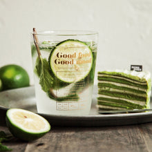 Good Food Good Mood Glass Tumbler