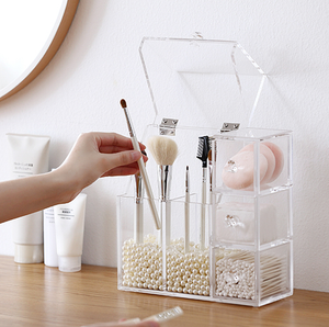 Clear All In Cosmetic Holder