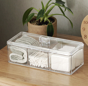 Clear Toiletries Compartments Holder