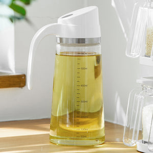 Clear Auto-lid Oil Bottle