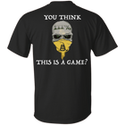 III% Gotcha Game | Not a game anymore | Skull Gasden Flag Mens T-Shirt