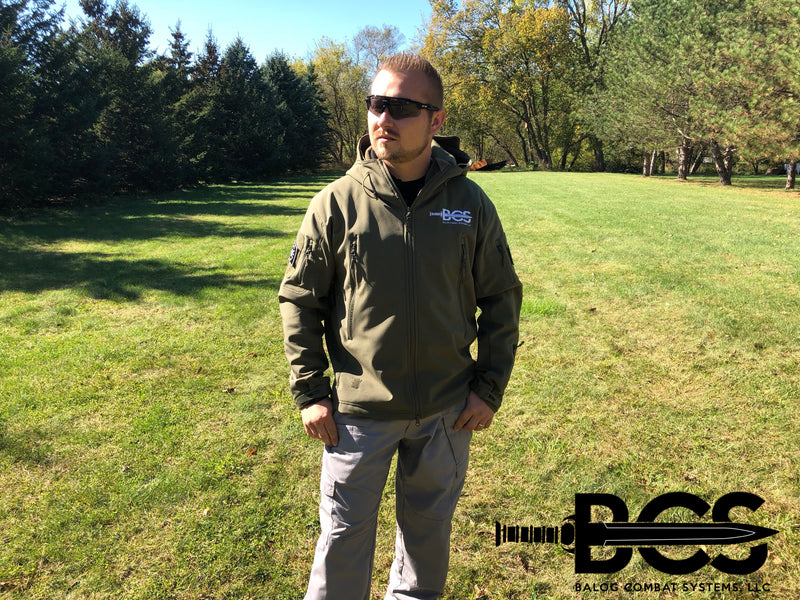 Premium B.C.S. Soft Shell Hooded Jacket - Balog Combat Systems (BCSTACTICAL),