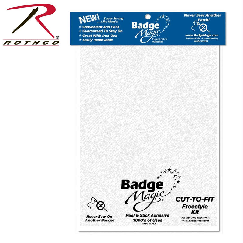 Badge Magic Adhesive Cut To Fit Freestyle Kit - Balog Combat Systems (BCSTACTICAL), Patches & Insignia