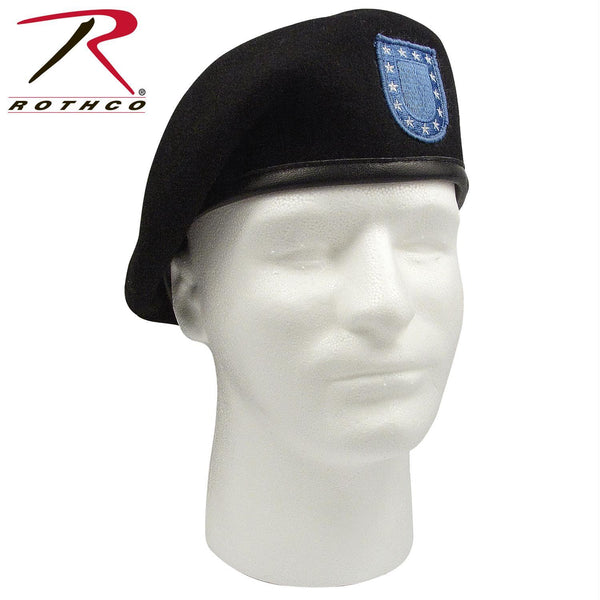 ''Inspection Ready'' Black Beret w/ Flash - Balog Combat Systems (BCSTACTICAL), Military Berets