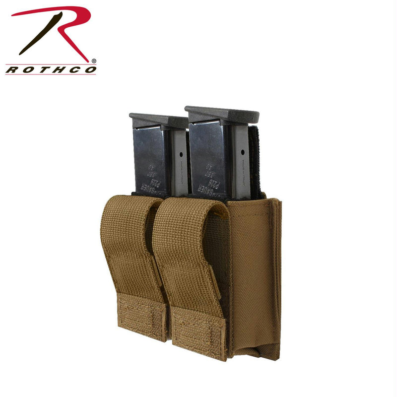 Rothco Molle Double Pistol Mag Pouch With Insert - Balog Combat Systems (BCSTACTICAL), Molle Pouches