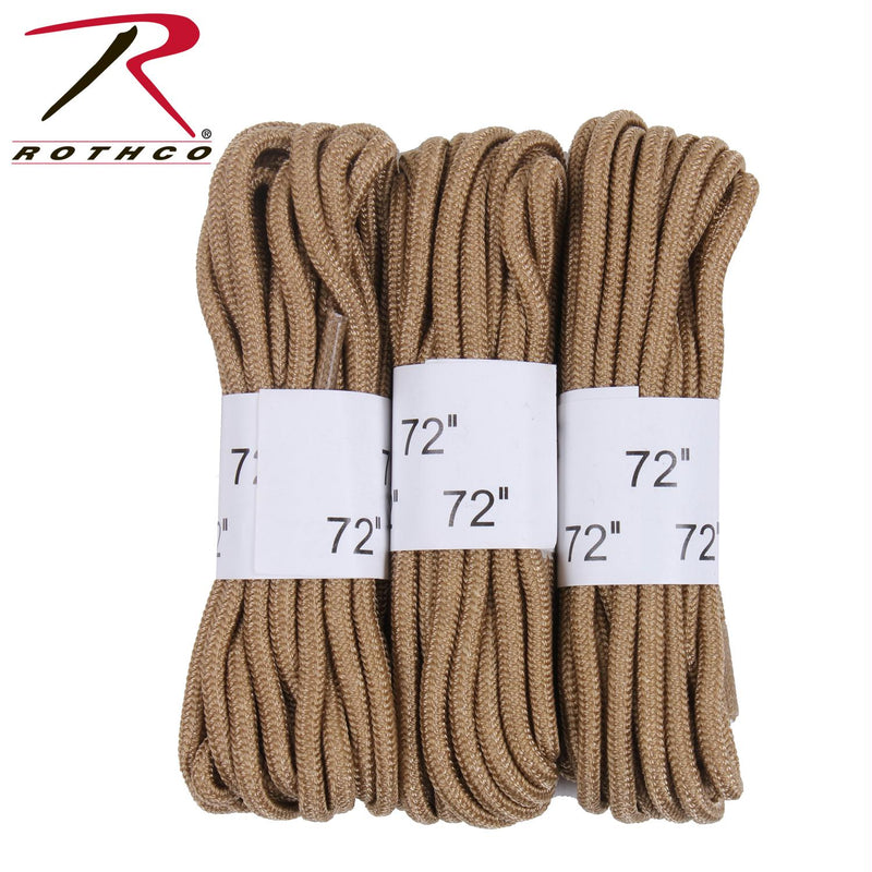 "Rothco 72"" Boot Laces - 3 Pack - Balog Combat Systems (BCSTACTICAL), New Arrivals"