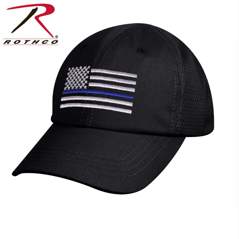 Rothco Tactical Mesh Back Cap With Thin Blue Line Flag - Balog Combat Systems (BCSTACTICAL), New Arrivals