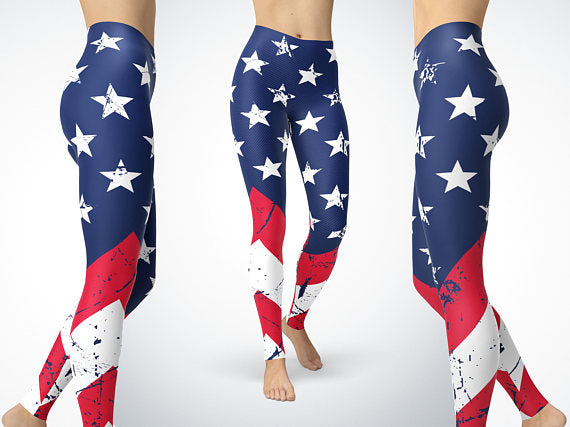 American Flag Leggings USA Flag Clothing Yoga Leggings - Balog Combat Systems (BCSTACTICAL), Clothing