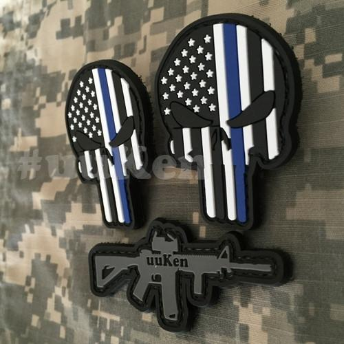 3pcs/Lot America Patriot Punisher 3D PVC Morale Patches - Balog Combat Systems (BCSTACTICAL),