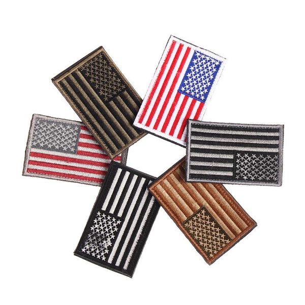 6 Styles American Flag Embroidered Patch Patriotic USA Military tactics Patch - Balog Combat Systems (BCSTACTICAL),