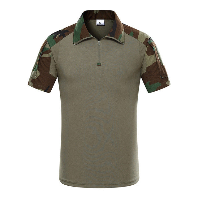 MEGE Tactical Camouflage Men Army Combat POLO Shirt, Rapid Assault ACU MultiCam Mens' Tops & Tees,  Airsoft Paintball Polo - Balog Combat Systems (BCSTACTICAL),