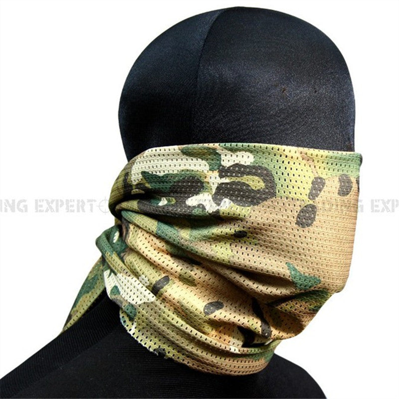 military scarf tactical scarf 2pcs Multicam  ACU Woodland CAMO Cloth Scarf - Balog Combat Systems (BCSTACTICAL),
