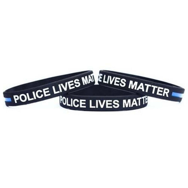 2016 Thin Blue Line Silicone Wristband Police Bracelet Law Enforcement Support USA - Balog Combat Systems (BCSTACTICAL),