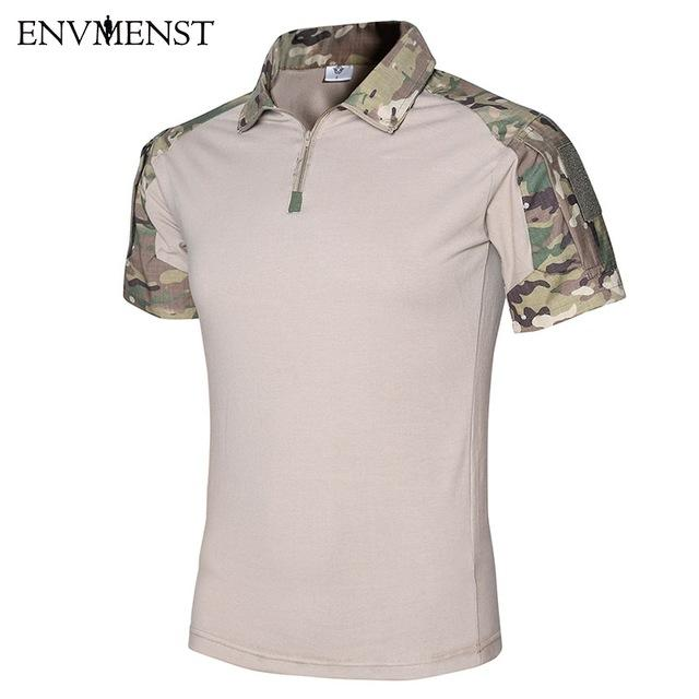 2017 Summer Tactical Camouflage Men Army Combat POLO Shirt - Balog Combat Systems (BCSTACTICAL),