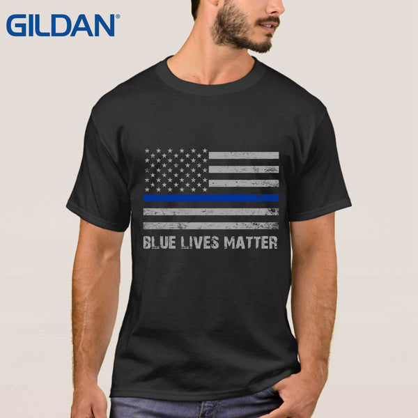 Anime Adults t shirt Blue Live Matter Thin Blue Line Support - Balog Combat Systems (BCSTACTICAL),