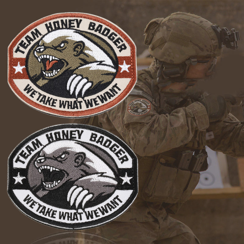New Team Honey Badger Military Tactical Army Morale Combat Multicam Patch - Balog Combat Systems (BCSTACTICAL),