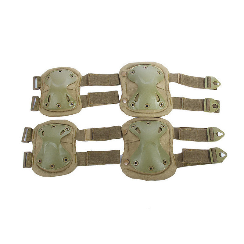 Elbows Knees Protective Safety Gear Pads Guard Set - Balog Combat Systems (BCSTACTICAL),